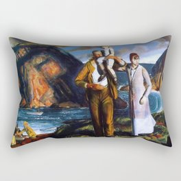 Fisherman's Family at the Coast by George Wesley Bellows Rectangular Pillow