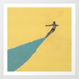 Torn Around - Dive Art Print