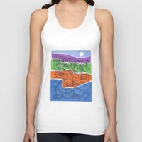 seoul Tank Tops featuring Seoul City #1 by Rob McClelland