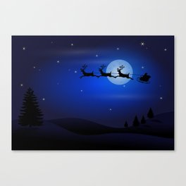 Santa's sleigh ride Canvas Print