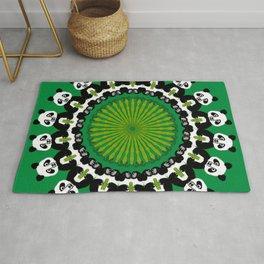 Panda Bamboo Mandala Design Rug
