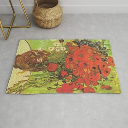 Still Life: Red Poppies and Daisies by Vincent van Gogh Rug
