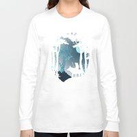 kodama Long Sleeve T-shirts featuring Forest Spirit by filiskun