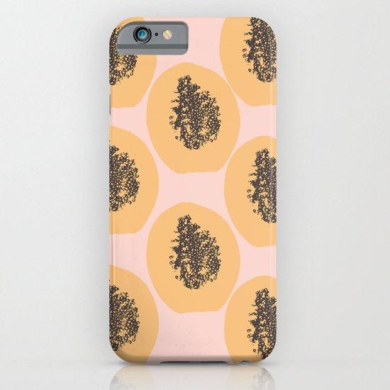 Papaya Print iPhone & iPod Case