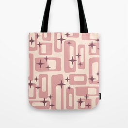 Retro Mid Century Modern Abstract Pattern 577 Dusty Rose Tote Bag