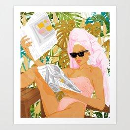 Vacay News #illustration #painting Art Print