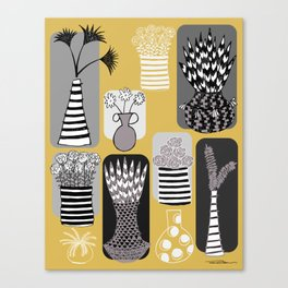 Vases and Stripes Canvas Print