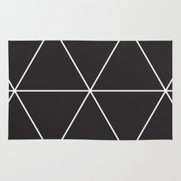 blackout triangles Rug