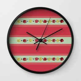 A Rosey Outlook Red Wall Clock