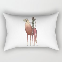 Numero 3 -Cosi che cavalcano Cose - Things that ride Things- NUOVA SERIE - NEW SERIES Rectangular Pillow