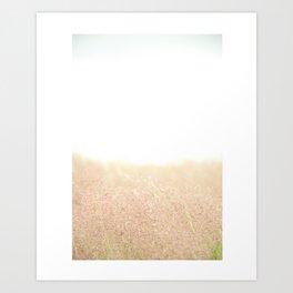 Sun's Sweet Embrace in Comforting Colors Art Print