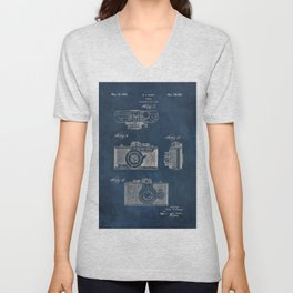 Cazin Camera patent art Unisex V-Neck