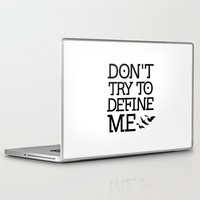 divergent Laptop & iPad Skins featuring Don't Try to Define Me - Divergent by All Things M