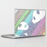 pandas Laptop & iPad Skins featuring colourful pandas  by Dal Sohal