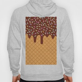 waffles with flowing chocolate sauce and sprinkles Hoody