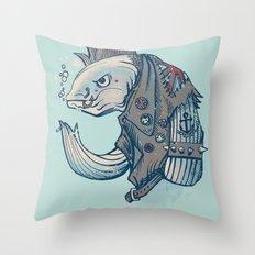 Punk Fish Throw Pillow