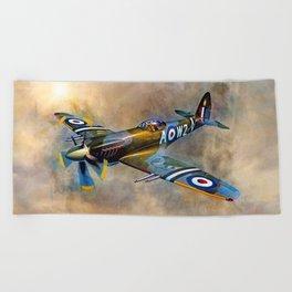 Spitfire Dawn Flight Beach Towel
