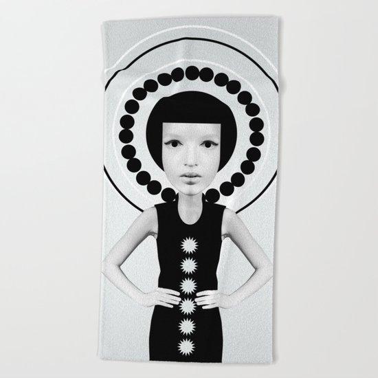 porcelain face Beach Towel