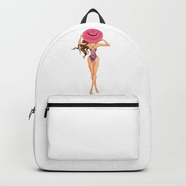 BEAUTIFUL GIRL PINK - summer time Backpack