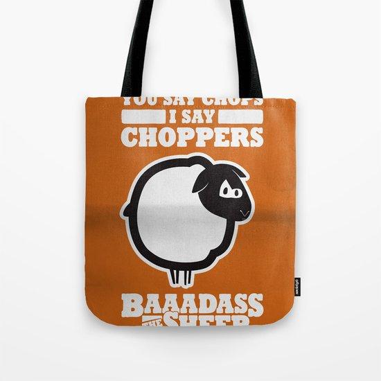 Baaadass the Sheep: Choppers Tote Bag