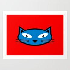 Blue Kitty Art Print