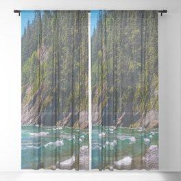 Oswald Beach, Oregon Sheer Curtain