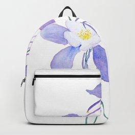purple columbine flower Backpack