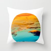swim Throw Pillows featuring Swim by Rick Staggs