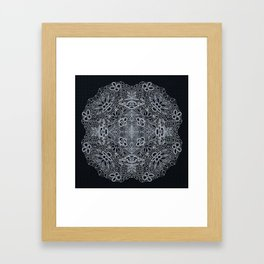 Crocheted Lace Mandala Framed Art Print