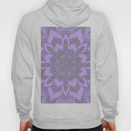 Purple Gray Flower Mandala Hoody