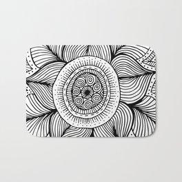 Doodle Flower Bath Mat