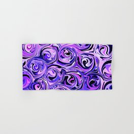 Violet and Lilac Paint Swirls Hand & Bath Towel