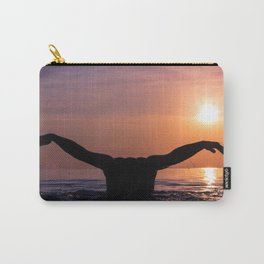 Man sunset swimming Carry-All Pouch