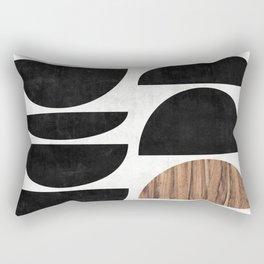 Mid-Century Modern Pattern No.7 - Concrete and Wood Rectangular Pillow