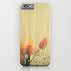French Tulips in Citrus Colors Thinly Veiled -- Spring Botanical iPhone 6s Slim Case