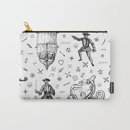 Pirate's Life Stick and Poke Illustration Carry-All Pouch