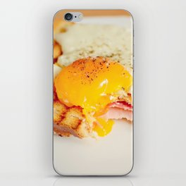 Toast with fried egg iPhone Skin