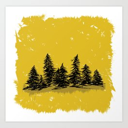 Golden Trees in the Pacific Northwest- PNW Art Print