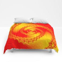 In full brightness downstairs ... Comforters