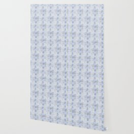 Classical blue with a gray cell. Wallpaper