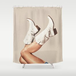 These Boots - Neutral Shower Curtain