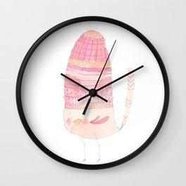 Macaroon Layers Hat Bird Wall Clock