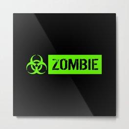 Zombie: Biohazard Metal Print