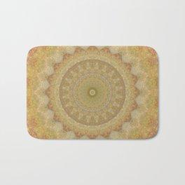 Topaz Gold Sun Marble Mandala Bath Mat