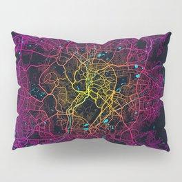 Kuala Lumpur City Map of Malaysia - Neon Lights Pillow Sham