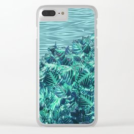 Zebra leaves Clear iPhone Case
