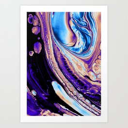 LUNAR SURFACE ON A SATURDAY NIGHT Art Print