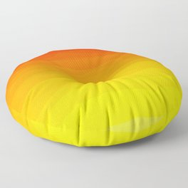 Red to Yellow Sunset Floor Pillow