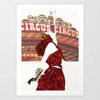 ruby Art Prints featuring Ruby by Kats Illustration