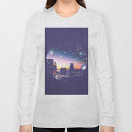 Minneapolis Minnesota Surreal Skyline in the Clouds Long Sleeve T-shirt
